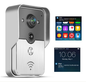 Rainproof Touch Key Wireless WiFi Video Visual Door Phone Doorbell Intercom System Home Security for iPhone Samsung Mobile Phone Tablet PC Unlocking Function