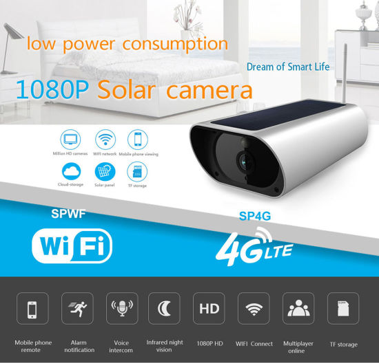 4g Ip Camera Battery Operated Outdoor Solar Power Panel Cctv Security Camera With Sim Card